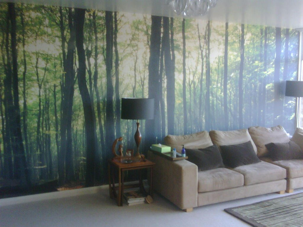 Printed wallpaper digitally printed wall covering custom for Custom mural wall covering