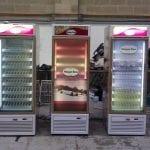 Retail Display lights on