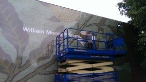 Printed cladding on building