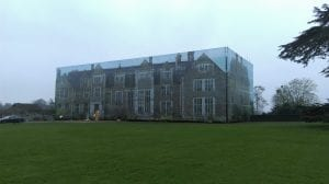 Printed building wrap at Loseley House