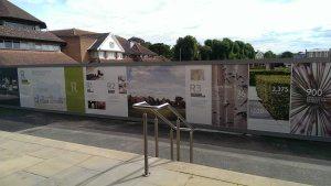 Building site printed hoarding