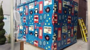 Printed Dibond shipping container