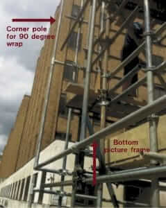 Picture frame scaffolding