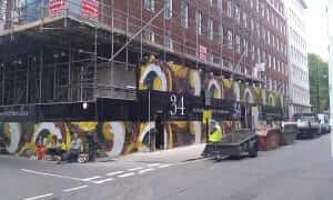 Building site hoarding